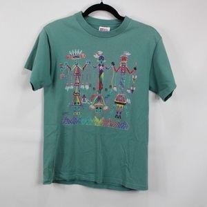 Vintage Indian Tribal Aztec Print Shirt Small Mens